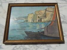Aquarelle paysage bord de mer signée Etienne Pierre Etienne?