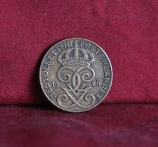 1926 Sweden 1 Ore Bronze World Coin KM777.2 Gustaf V Crowned monogram 3 crowns