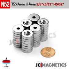 15mm X 4mm Hole 4mm N52 Strong Countersunk Ring Disc Rare Earth Crafts Magnets