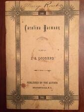 RARE 1895 Carolina Harmony, STATESVILLE, North Carolina Religious Hymns Tunes NC
