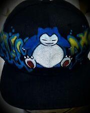 Pokemon Go Custom Airbrush Trucker Hat! Snorlax snapback personalized Pokémon
