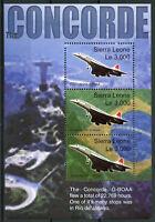 Sierra Leone 2003 MNH Concorde Over Brazil 3v MS Christ Redeemer Aviation Stamps