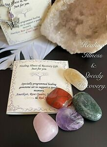 Illness & Recovery Gemstone Healing Crystal Set to Support a Speedy recovery.