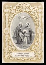 santino incisione 1800 SACRA FAMIGLIA