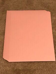 """Cardstock Paper Lot Rose Quartz Metallic 8.5 x 11"""" 24 Sheets"""