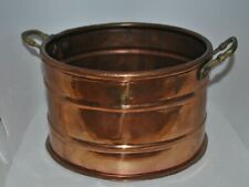 Copper Planter with brass handles vintage