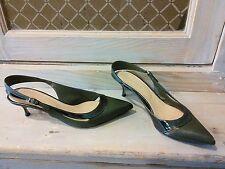 chaussures escarpins sergio rossi vert t f 38,5 i 37,5 eentres bon etat