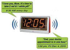 Reminder Rosie Talking Alarm Clock with 25 Personalized Voice Reminders