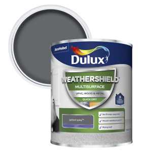 Dulux Weathershield Multi-Surface Quick Dry Satin Paint - All Colours - Sizes