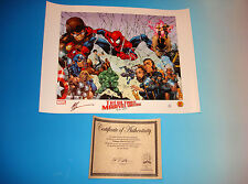 Ultimate Marvel Universe Lithograph Signed by Artist Art Thibert Certificate COA
