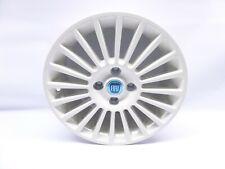 """Neuf D'Origine Fiat Punto Simple Blanc/Crème 6Jx 15 """" Aluminium Roue 46003791"""