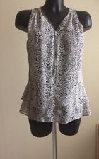 Womens Sleeveless Shear Top Size 12 New Look