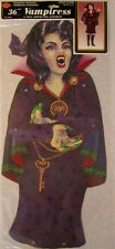 "Vintage Beistle 1995 Jointed 36"" Vampiress Halloween Party Decoration 01563"
