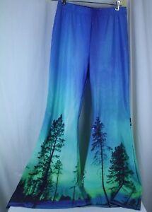 "Bell Bottom Yoga Pants 29"" Waist  35"" Inseam  Sky Tree Nature Design No Size Tag"
