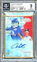2017 Topps Gold Label Framed Alex Bregman Autograph RC BGS 9/10 AUTO RED 6/25!