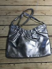 Vintage Tibor of California Silver Medium Shoulder Purse Bag Fashion Shimmer