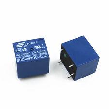 10pcs Mini 5V DC SONGLE Power Relay SRD-5VDC-SL-C PCB Type NEW