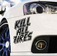 2 Kill all tires hoonigan dc ken block vinyl decal bumper or window car sticker