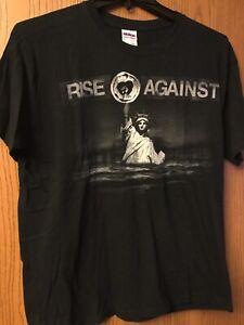 Rise Against.  Black Shirt.  L.