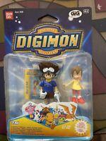 Digimon Lotto 3 Pezzi Rarità'! Bandai GIG Tai - Matt - Izzy! Fondo Di Magazzino!