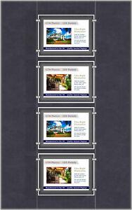 A4 LED Single Sided Pockets - Landscape 1x4 Display