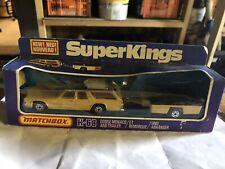 Matchbox K-68 Dodge Monaco & Trailer Superkings In Original Box