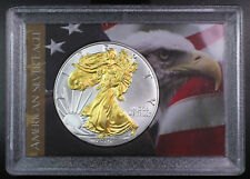 2016 Gilded American Silver Eagle .999 Bullion 1oz Ounce 24K Gold Free Shipping