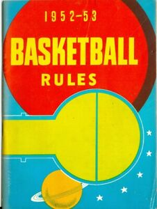 1952-53 Official Basketball Rules National Federation Edition