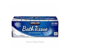 Kirkland Signature Bath Tissue, 2-Ply, 380 Sheets, 30 Rolls