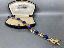 Beautiful Lapis Lazuli  & Sterling Silver Bracelet