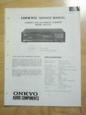 Original Onkyo Service Manual for the DX-C510 CD Changer~Repair