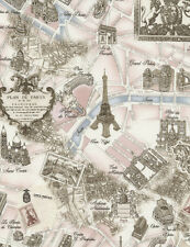 Paris Map Fabric EBay - Paris map fabric
