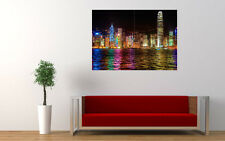 "HONG KONG COLORFULNESS NEW GIANT LARGE ART PRINT POSTER PICTURE WALL 33.1""x23.4"""