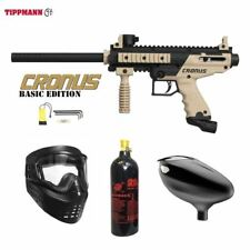 Tippmann Cronus Basic Tactical Beginner Co2 Paintball Gun Package - Black / Tan