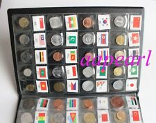 120 countries Regions different Coins money with flag Collections book album