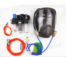 New 3 In 1 Function Supplied Air Fed Respirator System 6800 Full Face Gas Mask