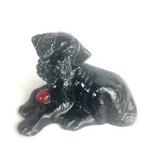 Vintage Hardie Black Scottie Dog Figurine With Red Ball