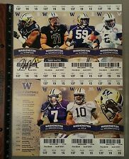 HAU'OLI KIKAHA SAINTS SIGNED 2014 WASHINGTON HUSKIES FULL SEASON TICKET SHEET