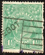1918 Australia Sg 61 1½d green with Paquebot Cancellation