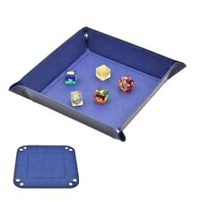 Collapsible PU Dice Rolling Tray Tabletop Storage Box RPG Board Game Supplies