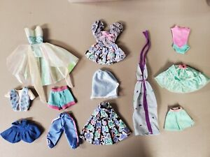 6F~TLC 218~MIXED BARBIE DOLL FASHION CLOTHING USED CLOTHES TLC LOT FOR OOAK PLAY