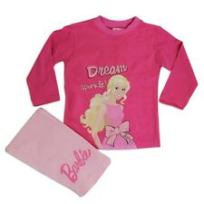 Chicas Disney Pijama Rosa de Barbie Conjunto Manga Larga Rosa Intenso 2 Años
