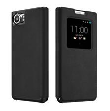 Original Étui BlackBerry Smart Flip Case Cuir noir pour Blackberry KeyOne NEUF