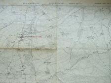DEVON DEVONSHIRE VINTAGE MAP 1907 LARGE BRATTON CLOVELLY GREAT BURROW S WEST