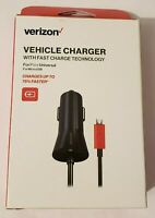 Verizon Micro USB Car Charger,  (Fast Charge Technology) - 6-ft. Cable
