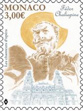 monaco 2018 Opera Singer russia FEDOR CHALIAPINE 1873 1938 art lyrique 1v mnh **