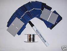 40 2x3 solar cells (52x76mm)20 watt solar panel kit, cells,flux pen,tabbing wire