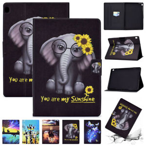 Pattern Leather Smart Case Cover For Lenovo Tab M10 FHD Plus HD 10.1 10.3 Tablet
