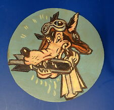 SEA WOLVE'S NAVY FIGHTER SQUADRON LAYERED LEATHER PATCH