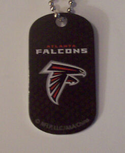 """(5) ATLANTA FALCONS DOG TAG NECKLACE WITH 30"""" CHAIN"""